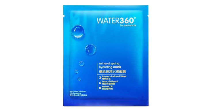 water360保湿面膜分享,第一次购买屈臣氏自家品牌