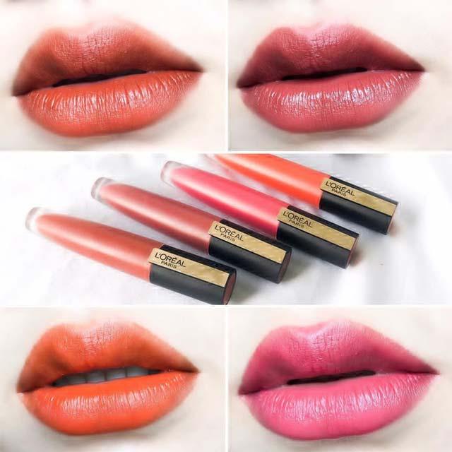 欧莱雅小钢笔129和130试色分享,巴黎日落系列必买色号