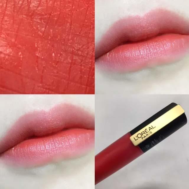 欧莱雅小钢笔113和119号试色分享,有质感地橘红美色