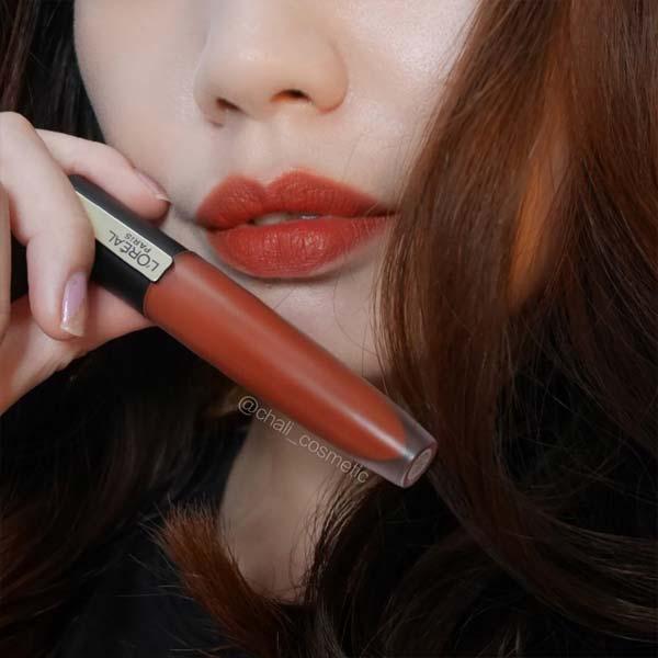 欧莱雅小钢笔130试色,土橘调的超美黄昏色唇釉