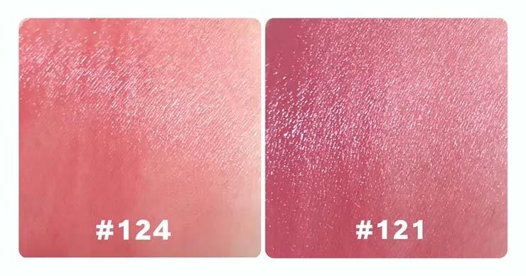 欧莱雅121和124哪个好看?小钢笔121和124试色对比照