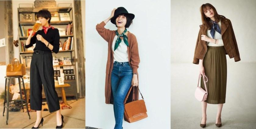 日系穿搭中常见的「领巾」用法多元、时尚甜美,耍出多变风采!