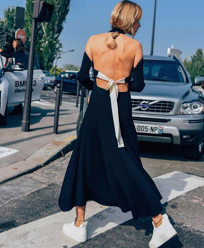 女生穿上针织连身裙秒变有温柔优雅,你有不穿的借口吗?