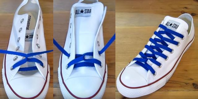 三種綁鞋帶的方法學起來