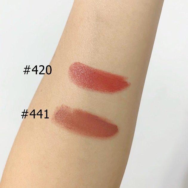 雅诗兰黛唇膏##420#441色号试色分享,推荐必收的两色
