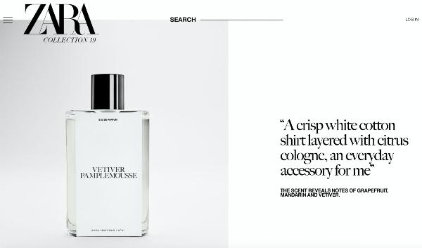 联名香水品牌祖·玛珑,ZARA再靠香水吸金