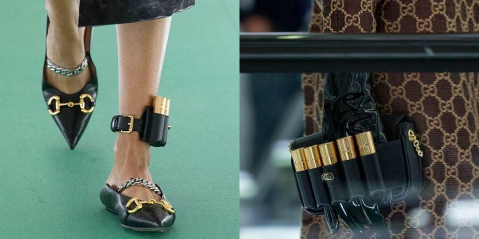 Gucci 2020春夏时装秀推出一系列唇膏子弹配件,口红腰包、皮